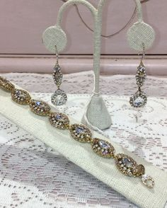 Stunning gold with clear and white opal Swarovski crystals jewelry match 💕 can be customized to be in silver with all clear crystals too ! Available @miaelenabridal #miaelenabridal #bridalboutique #bridalcouture #bridalaccessories #bridaljewelry #bridalheadpiece #bridalveils #bridalgarters #bridalrobes #bridalstyle #instabride #bride #brides #bridal #bridetobe #futuremrs #engaged #engagement #shesaidyes #isaidyes #njbride #nybride #longislandbrides #statenislandbrides @hautebride