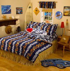 Hawaiian Comforter Bedroom - tropical - duvet covers - other metro - Dean Miller Surf Bedding