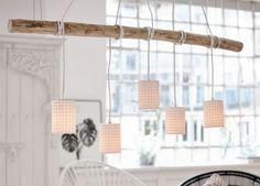 Hängeleuchte Mislata mit Ast Metall und Keramik Deckenlampe Leuchte Hängelampe     eBay