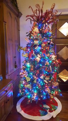 A fun children's tree in every color possible