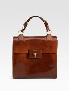 Prada Spazzolato Gusset Bag