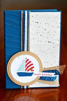 The Stamping Blok: Stampin' Up! Swirly Bird, scribbles,  Sailing - TGIFC60/GDP040