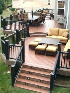 Stunning Patio Decks That Will Add Charm To Your Life . Stunning Patio Decks That Will Add Charm T Outdoor Spaces, Outdoor Living, Outdoor Balcony, Decks And Porches, Patio Decks, Deck Landscaping, Trex Decking, Composite Decking, Porch And Patio