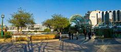 Panoramique du forum des Halles et porte Berger pris de l'allée Saint John Perse