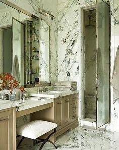 Floor to ceiling marble? Now THAT'S what I'm talkin about!