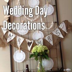 wedding day decorations!