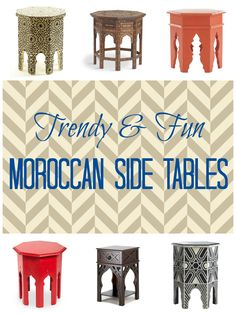 Moroccan Side Table Roundup - Houseologie
