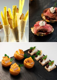 Creative canapes, wedding catering ideas, reinvention of the canapes, Kalm Kitchen, Wedding Caterers