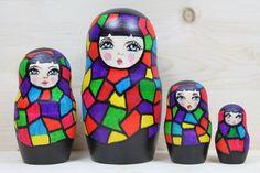Abstract Nesting Doll Matryoshka Doll
