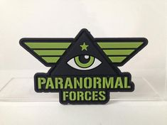 Paranormal Forces patch PVC emblem by CoghillCartooning on Etsy Air Force Patches, Army Patches, Pin And Patches, Woodstock, Paranormal, Flatwoods Monster, Tactical Bag, Merit Badge, Morale Patch