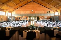 Weddings at The Historic Pinecrest Event Center, Chapel, and Lodge in Palmer Lake, Colorado. Inside view from the head table.