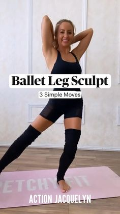 Fitness Workouts, Fitness Workout For Women, Yoga Fitness, Fitness Tips, Fitness Motivation, Leg Workouts, Barre Workout, Flexibility Workout, Ballet Workouts