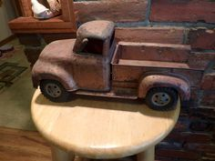 Tonka Toys 1955 Ford Red Pickup Truck, Rusted Tonka Truck, Vintage Tonka Truck, Tonka, 1955 Tonka by Morethebuckles on Etsy