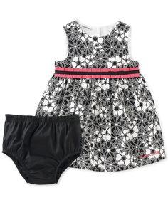 826c8a4b7d Calvin Klein Baby Girls' Black & White Party Dress & Reviews - Sets &  Outfits - Kids - Macy's
