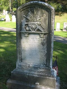 Tombstone of a Civil War Veteran - Seneca Union Cemetery, Valois, NY.