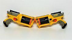 Nerf Gun Maverick REV-6, N-Strike, 6 Shooter x2 pair very clean toys vgc guns     eBay