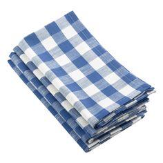 (Set of Blue Gingham Design Napkin - Saro Lifestyle, French Blue Cotton Napkins, Linen Napkins, Napkins Set, Cloth Napkins, Thanksgiving Day Football, Biscuit Home, Blue Gingham, Gingham Check, White Plaid