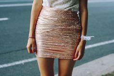 Pink Sequin Skirt.