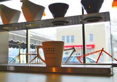 Angry Catfish Bicycles & Coffee  -a spectacular coffee bar inside an excellent Minneapolis bike shop
