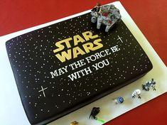 anniversaire star wars gâteau noir