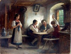 The Card Game (Rudolf Epp - 1880)