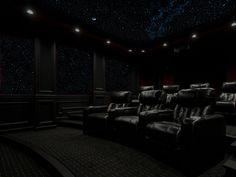 elegant movie room..