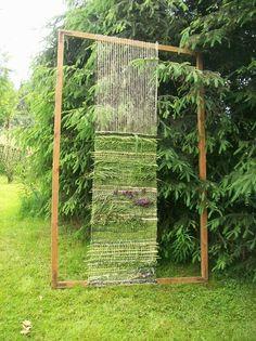 DIY outdoor loom