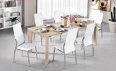 Scopri il nostro tavolo allungabile Wood nella variante olmo perla. Dining Table, Furniture, Design, Home Decor, Pearls, Trendy Tree, Decoration Home, Room Decor, Dinner Table