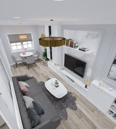 livingroom apartment 30m2 Contemporary, Living Room, Rugs, Design, Home Decor, Farmhouse Rugs, Decoration Home, Room Decor