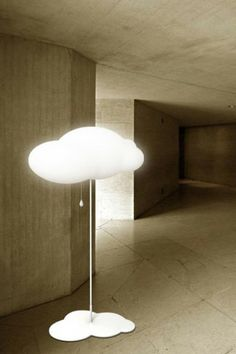 cloud shaped lamp #design #lamp...or is it a lamp shaped cloud...mystery