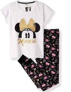 Disney Mickey Mouse Ladies Happy Hands Vest Short Sleeve Pyjama Set Disney Mickey Mouse, Pajama Set, Vest, T Shirts For Women, Crop Tops, Lady, Sleeve, Fashion, Manga