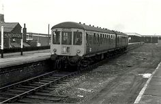 Hunstanton, Norfolk. This was once a very busy station at summer weekends with holiday trains and excursions. It stands partially derelict as the last dmu leaves for KIngs Lynn. The line closed to passenger traffic on 5th May 1969, to goods on 28th Devember 1964. Image Ian Baker. Electric Locomotive, Diesel Locomotive, Holiday Train, Disused Stations, Great Yarmouth, British Rail, Models, Train Station, Model Trains