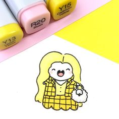 """"""" ✨ I rewatched Clueless yesterday I've probably seen this movie literally a hundred…"""" Pencil Art Drawings, Cool Art Drawings, Kawaii Drawings, Doodle Drawings, Easy Drawings, Doodle Art, Happy Doodles, Kawaii Doodles, Cute Doodles"""