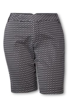 AVA & VIV Bermuda Short in Black/White Print, $24.99, available at Target.