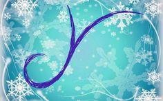 Alfabeto nevando tipo Frozen.