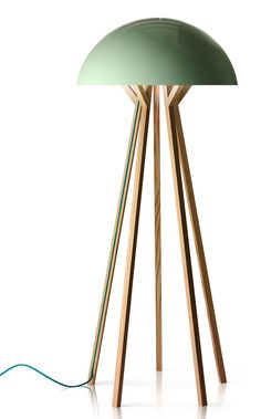 Marginal Notes 2011 by Note Design Studio tomorrow island floor lamp green Note Design Studio, Notes Design, Cool Lighting, Lighting Design, Lighting Ideas, Diy Luminaire, Design Light, Wood Floor Lamp, Contemporary Home Decor