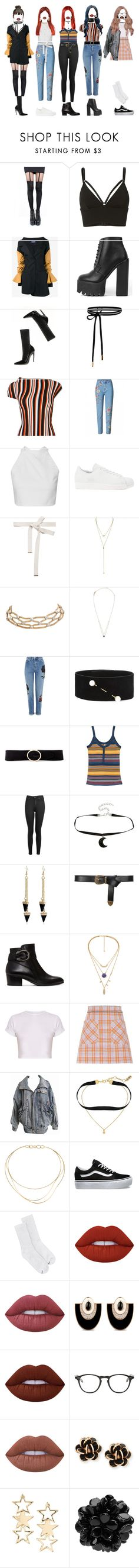 """""""[ Weekly Idol ] G-3"""" by xxeucliffexx ❤ liked on Polyvore featuring Pretty Polly, T By Alexander Wang, Jacquemus, Balenciaga, adidas Originals, Marni, Erica Lyons, Topshop, Dries Van Noten and Linea Pelle"""