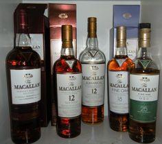 'McCallan' Scotch Line Up - 25 yrs sparingly