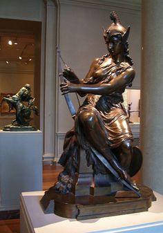 Amazon preparing for a battle (Queen Antiop or Armed Venus), by Pierre-Eugène-Emile Hébert 1860 (National Gallery of Art, Washington, D.C.)