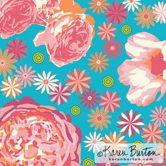 Karen Burton - Garden Party | The Ultimate Portfolio Builder | September 2015 class | Student Pattern Design Showcase | The Art and Business of Surface Pattern Design | Make it in Design | www.makeitindesign.com