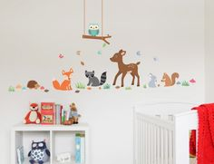 Buy these gorgeous Woodland Wall Stickers for your little girls room
