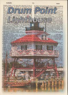 Drum Point Lighthouse Chesapeake Bay Calvert by StorybookArtPrints