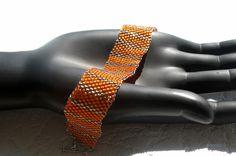 """Armbänder - Armband """"Tiffany"""" Orange Silber - ein Designerstück von Die-Kette bei DaWanda"""