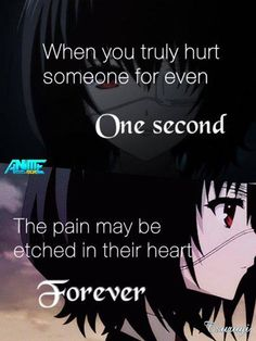 Anime: Another || I am just remaining to myself... Think before you...talk