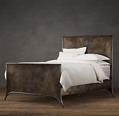 zinc keyhole bed // love it