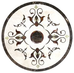 Fancy Polished Florence Medallion, Round - Traditional - Floor Medallions And Inlays - by Fancy Tiles and Mosaics Marble Floor, My Dream Home, Mosaics, Florence, Tiles, Kids Rugs, Fancy, Flooring, Traditional
