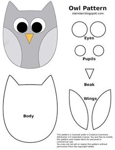 Owl Sewing Patterns, Applique Patterns, Owl Quilt Pattern, Felt Owl Pattern, Pattern Sewing, Owl Applique, Softie Pattern, Felt Crafts Patterns, Quilt Patterns