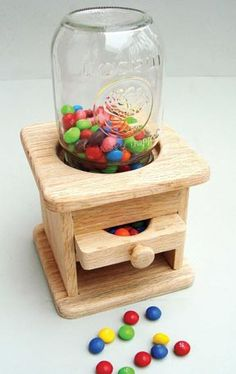 My grandpa made a dispenser once, and after he passed away it was a frenzy trying to see who got it. It was one of our favorite things about going to grandma's and grandpa's! I may have to make one now!