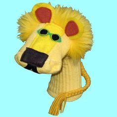 Handmade Yellow Lion Sock Puppet                                                                                                                                                                                 More