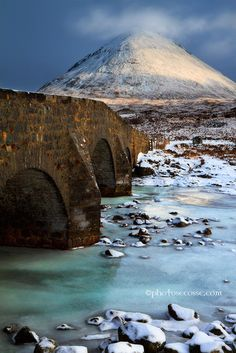 Sligachan Old Bridge, Isle of Skye, Scotland                              …